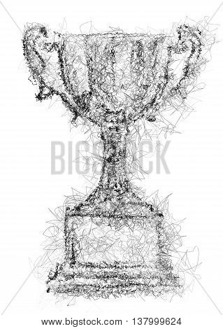 trophy abstract illustration isolted on white background
