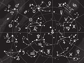 foto of northern hemisphere  - XII Constellations of Zodiac and Its Planets the Sovereigns - JPG