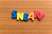 Sneaky Colorful Word poster