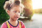 Beautiful Sad Little Girl Crying poster