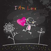 Positive affirmations for kids, motivational, inspirational concept vector illustration. I am loving poster