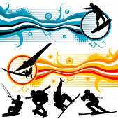 extreme sport graphics vector