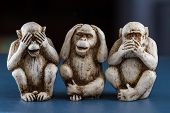 Постер, плакат: See No Evil Hear No Evil Speak No Evil