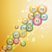 stock photo of bing  - bing bals bursting across the image on a gold background - JPG
