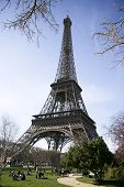 Calm Sunny Eiffel Tower View poster