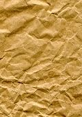 pic of recycled paper  - Close up of a crumpled brown paper bag - JPG