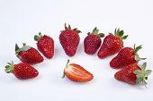 Summer Fruit Salad Ingredients, Sliced Strawberries poster