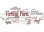 Virtual Porn, Word Cloud Concept 6 poster