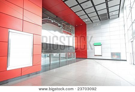 Large Billboard For Advertisement Use In A Modern Building