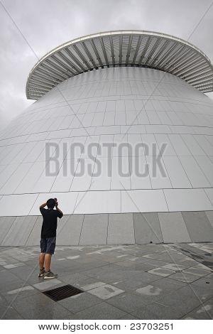 Man kann Foto des modernen Gebäudes
