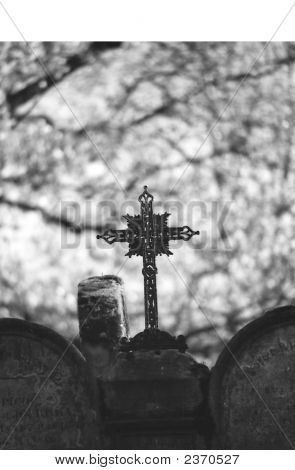 Cross In Graveyard