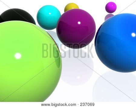 Abstract Multi-colour Balls