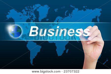 Frauen Hand Geschäft