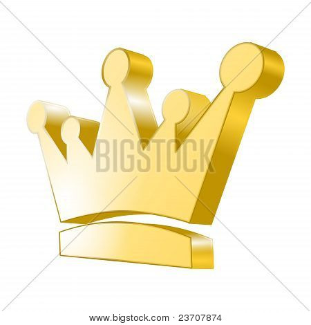 3d icon - Golden Crown