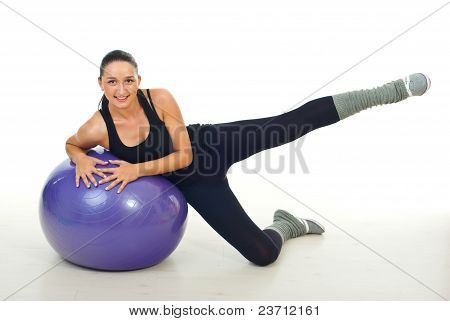 Woman Doing Exercises For Legs