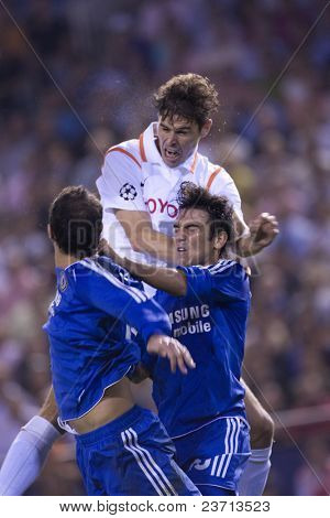 Valencia c.f. vs Chelsea soccer match - Footbal UEFA Champions League 2007-2008 October 3rd in Mestalla Stadium in Valencia City