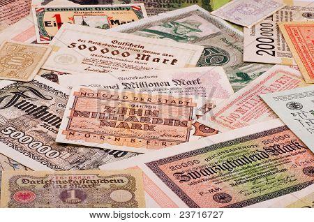 Alte deutsche Geld