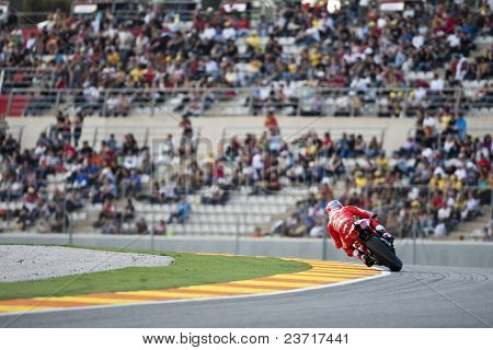 VALENCIA, SPAIN - NOVEMBER 6: MotoGP  Comunitat Valenciana - Casey Stoner - on November 6, 2009 in Valencia, Spain