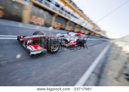 VALENCIA, SPAIN - FEBRUARY 3: F1 Test - Jenson Button on February 3, 2010 in Cheste, Valencia, Spain