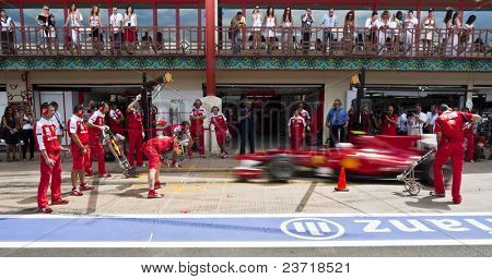 VALENCIA, SPAIN - JUNE 26: Formula 1 Valencia Street Circuit - Ferrari F1 Team - June 26, 2010 in Valencia, Spain