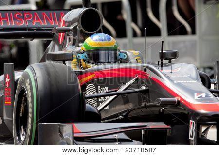 VALENCIA, SPAIN - JUNE 26: Formula 1 Valencia Street Circuit - Bruno Senna - June 26, 2010 in Valencia, Spain