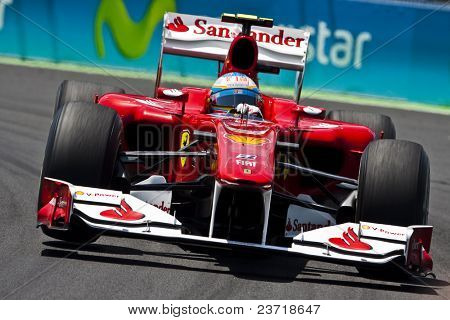 VALENCIA, SPAIN - JUNE 26: Formula 1 Valencia Street Circuit - Alonso - June 26, 2010 in Valencia, Spain