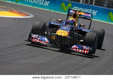VALENCIA, SPAIN - JUNE 26: Formula 1 Valencia Street Circuit - Mark Webber - June 26, 2010 in Valencia, Spain
