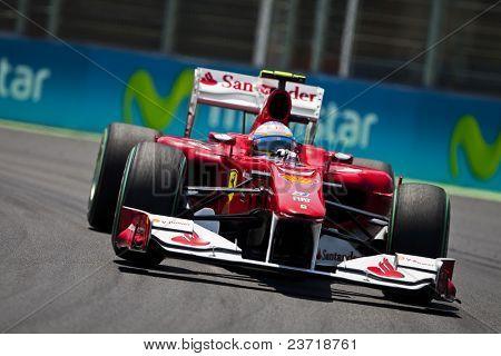 VALENCIA, SPAIN - JUNE 26: Formula 1 Valencia Street Circuit - Alonso - June 26, 2010 in Valencia, Spain