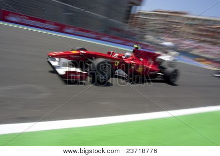 VALENCIA, Spanien - Juni 27: Formel 1 Valencia Street Circuit - Alonso - 27. Juni 2010 in Valencia, S