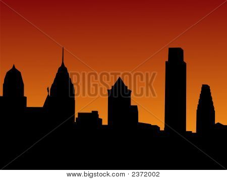 Philadelphia At Sunset
