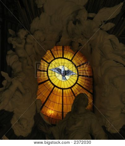 The Major Church Of Naples, Called Duomo- Interior Glass