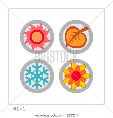 Seasons: Icon Set 01 - Version 1