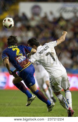 VALENCIA, SPAIN - SEPTEMBER 25 - Spanish Professional Soccer League, Levante U.D. vs Real Madrid - Ciudad de Valencia Stadium - Cristiano Ronaldo - Spain on September 25, 2010