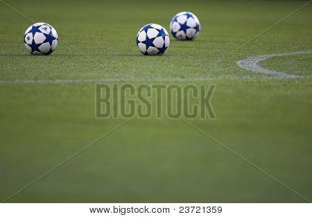 VALENCIA, SPAIN - SEPTEMBER 29: UEFA Champions League, Valencia C.F. vs Manchester United, Mestalla Stadium, UEFA official ball, Spain on September 29, 2010