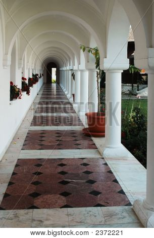 Way Out With Row Of Columns