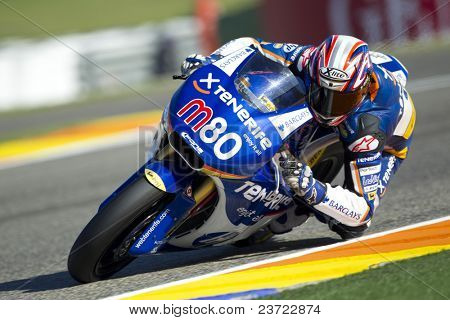 VALENCIA, SPAIN - NOVEMBER 6: axel Pons in motogp Grand Prix of the Comunitat Valenciana, Ricardo Tormo Circuit of Cheste, Spain on november 6, 2010