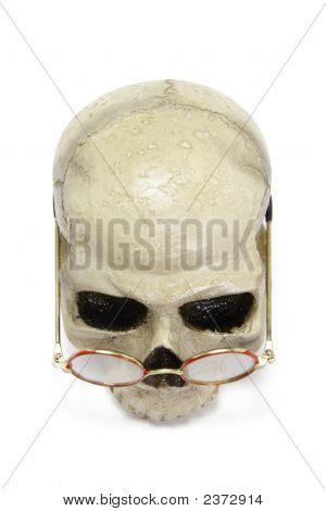 Skull With Glasses