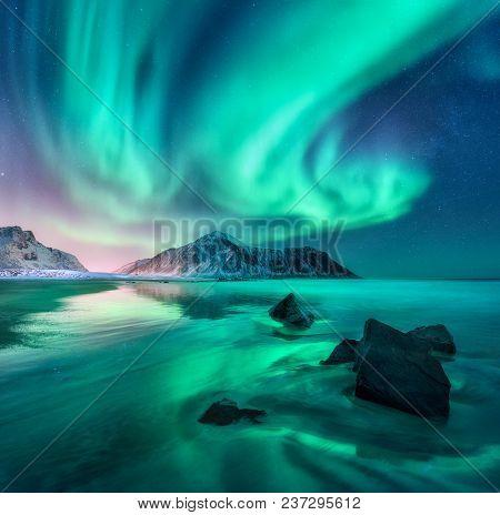 Aurora Nothern Lights In Lofoten