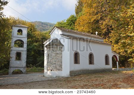 Greek old stone made traditional church