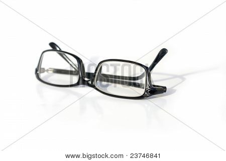 A reading glasses isolated on a white background