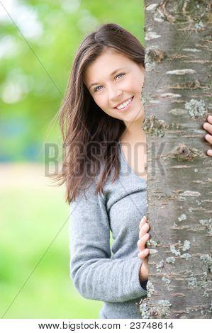 Outdoor Portrait Of A Cute Teen