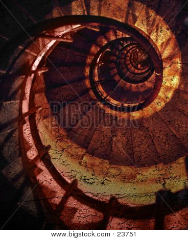 Abstract Spiral Grunge Pattern