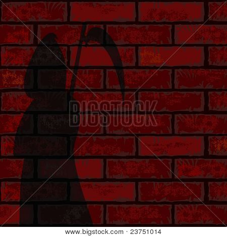 Red Brick Wall And Death