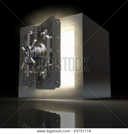Opening Vault And Volume Light. 3D