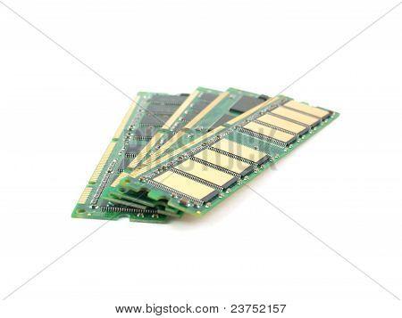 Memory Cards (ram) Over White