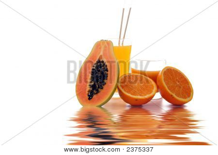 Papaya And Orange Juice