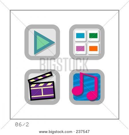Media: Icon Set 06 - Version 2