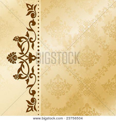Floral arabesque background in sepia tones