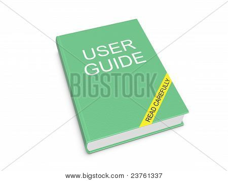 User Guide. Isolated On The White Background