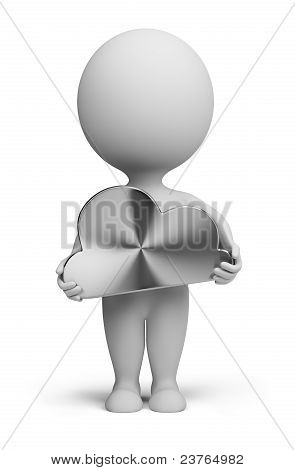3D Small People - Steel Cloud